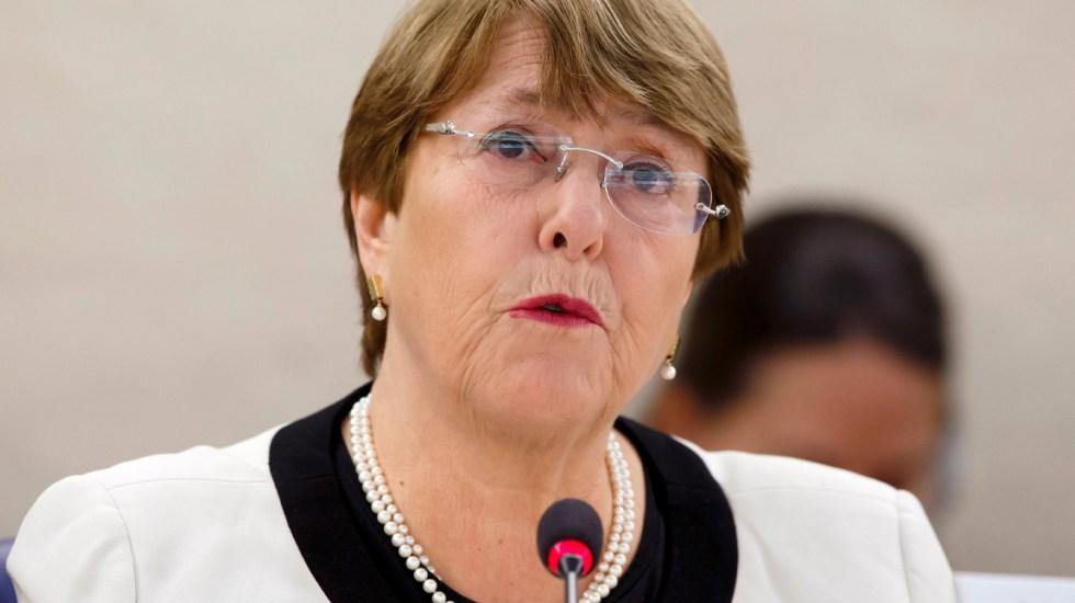 Michelle Bachelet pidió la liberación de presos políticos en Venezuela.