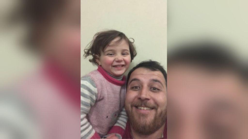 ¡Se ganó el cielo! En tierno vídeo padre tranquiliza a su hija en medio de un bombardeo