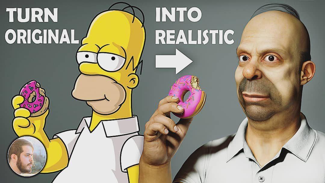 ¡SORPRENDENTE! Artista digital diseñó a Los Simpsons en «carne y hueso» (FOTOS)