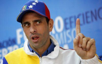 Capriles: «Todo el mundo sabe quién es el responsable de destruir a la oposición y autor de aventuras fallidas»