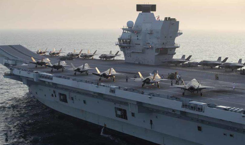 ¡ADVERTENCIA! China amenazó al portaaviones más grande de Reino Unido por circular en aguas al sur de su territorio